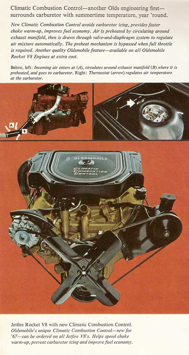 Below is a diagram of the system in the 1967 Oldsmobile dealership sales  brochure.